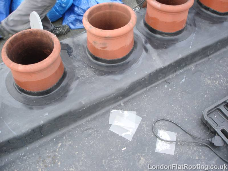 EPDM Rubber Dressed Around Chimney Pots